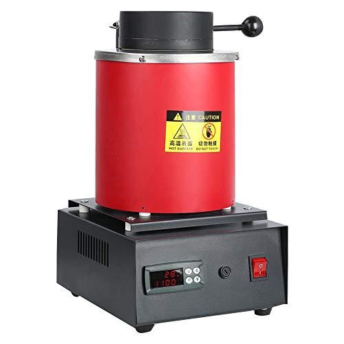 Zyyini Horno de fusión, Horno Digital de fusión Máquina de calefacción Capacidad de fundición Refinación Metales Preciosos Oro Plata Estaño Aluminio para procesamiento de Joyas(# 2)