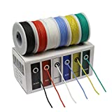 CBAZY Hook up Wire Kit (Stranded Wire Kit) 30 Gauge Flexible Silicone Rubber Electric Wire 6 Colors 32.8 feet Each 30 AWG