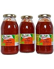 Chef Service Puro de tomate orgánico y artesanal - 3 piezas de 500 gr