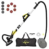Drywall Sander with Vacuum, Labor-Saving Handle and Unique Fixture for Ceiling Sanding, Electric Sander for Drywall with LED Light, ETL Listed, CUBEWAY