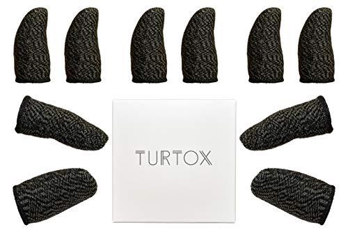 指サック 荒野 行動 スマホ ゲーム ゆびさっく 音ゲー 手汗 反応が良い 10個入り 反応アップガイド付き 日本語保証書 TURTOX