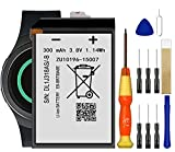 for Samsung Gear S2 Battery, Smartwatch SM-730, R730V, R730A, R730S, R730T, R735A, R600 Replacement Battery EB-BR730ABE Free Adhesive Tool