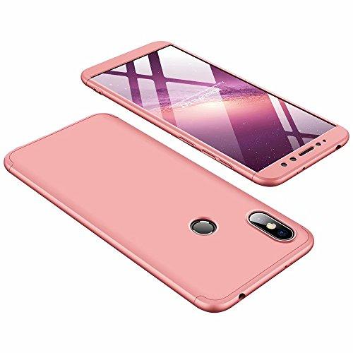 DESCHE compatibles con funda Xiaomi Redmi S2 Oro rosa, PC duro Cubierta protectora Ultrafino Anti-rasguños Parachoque Mate Phone Case - Oro rosa