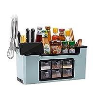 調味料の甲板箱の棚の棚の棚の棚の棚のキッチンホルダーケース、グリーン