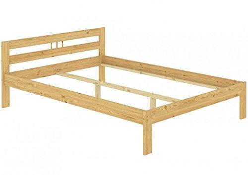 Erst-Holz® Bettgestell Kiefer Natur 140x200 Doppelbett Futonbett Massivholzbett ohne Rollrost 60.64-14 oR