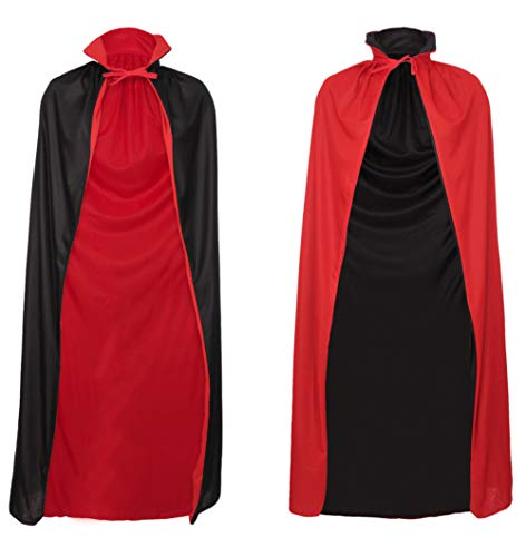 Redstar Fancy Dress - Capa Reversible de Conde Drácula - Ideal para Halloween - Rojo y Negro