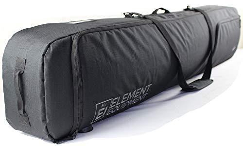 Element Equipment Deluxe Padded Snowboard Bag - Premium High End Travel Bag 165 Black NanoWeave...
