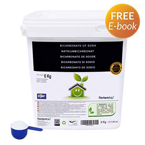 Natron NortemBio 6 Kg. Premium Natriumhydrogencarbonat in Pharmazeutischer Qualität. Ökologischer Input aus natürlichem Ursprung. Natriumbicarbonat. Aluminiumfrei. CE – Produkt