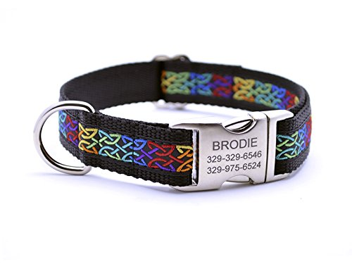 Celtic Knots Dog Collar with Personalized Buckle