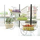 BXWQPP 3-Stufig Europäischen Stil Creative Fahrrad Toy's Delight Etagere Kunst Eisen Servierständer Dessert Ständer Cupcake Keks Obst Muffin Tortenständer,B