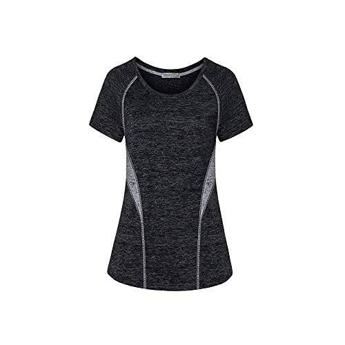 fanshion goup Camiseta de entrenamiento para mujer, de secado rápido, para yoga, color block