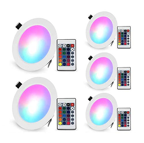 Confezione da 4 lampada da soffitto LED dimmerabile 16colori con telecomando 4-pack