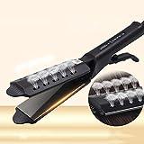 Plancha de pelo de hierro plano iónico de turmalina de cerámica, planeador profesional para salón de instrumentos, barra de temperatura ajustable, para todo tipo de cabello