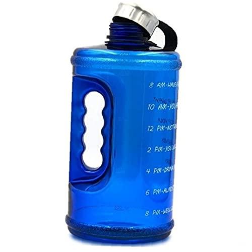 Ruluti Botella De Agua Tiempo De Marcador, 2,2 litros Jarra Grande De Agua con La Manija De Gimnasia Deportes Aire Libre