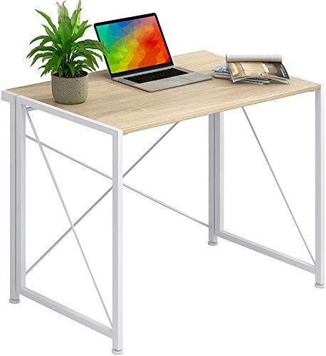 Dikazoku 折りたたみ デスク 省スペース pcデスク シンプルワークデスク 平机 机 デスク パソコンテーブル オフィスデスク 幅75cm×奥行40cm ×高さ70cm 組立簡単 PCデスク 書斎机 書斎デスク 学習デスク デスク コンパクト