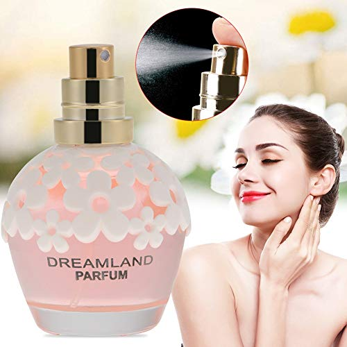 30 ml Perfume para Mujeres Fragancia de Duración Larga, Botella de Perfume de Fragancia Original Femenina, Perfumes Floral Fresco Agradable Aroma Natural(Rosa)