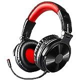 OneOdio Active Noise Cancelling Kopfhörer (ANC), 40 Stunden Kabellos Bluetooth Over Ear Kopfhörer, Tiefer Bass CVC 8.0 Mikrofon Schnellladung Protein-Ohrpolster faltbar für Reise Büro TV Handy PC (Rot)
