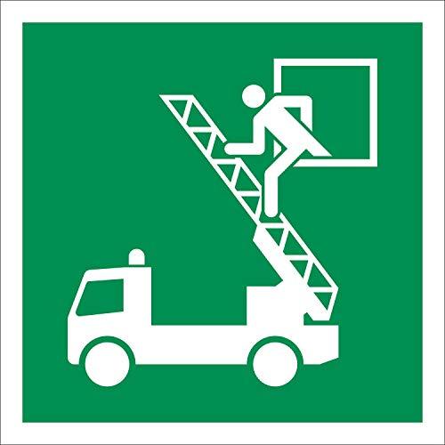 Rettungsausstieg Rettungszeichen Rettungswegschild Schild Nachleuchtend ASR A1.3 150 x 150 mm