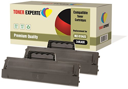 Kit 2 TONER EXPERTE® MLT-D1042S Toner compatibili per Samsung ML-1660, ML-1665, ML-1670, ML-1675, ML-1860, ML-1865, ML-1865W, SCX-3200, SCX-3201, SCX-3205, SCX-3205W, SCX-3217, ML-1661, ML-1666