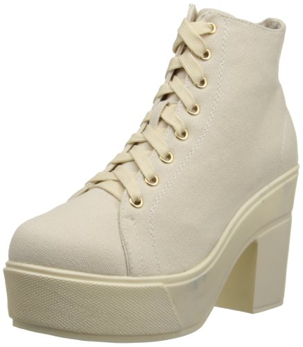 Dirty Laundry by Chinese Laundry Women's Campus Queen Canvas Combat Boot,Dark Beige,7 M US