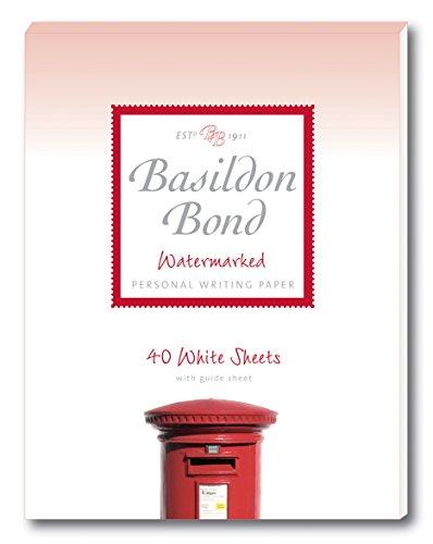 Basildon Bond Duque 137x 178mm bloc de notas con 40hojas–Color blanco