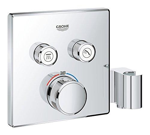 GROHE Grohtherm Smartcontrol | Brause- & Duschsystem - Thermostat mit 2 Absperrventilen und integriertem Brausehalter | chrom | 29125000
