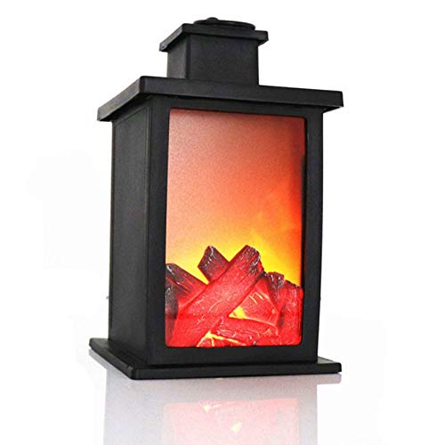 WJL LED simulatie open haard charcoal vlam wind lamp, Home Creative kleine decoratie soft decoratie Crafts retro decoratie