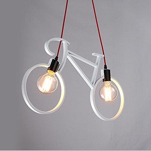 Moderne minimalistische smeedijzeren fietslampen, spaarlampen die verschillende scènes kunnen versieren, geschikt voor verschillende soorten decoratie.