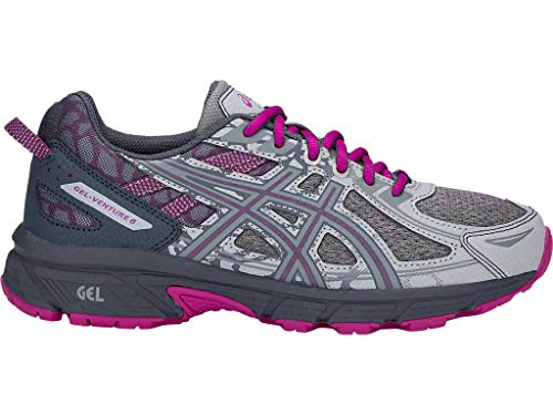 ASICS Women's Gel-Venture 6 MX Running Shoes, 8.5M, MID Grey/Purple SPEC