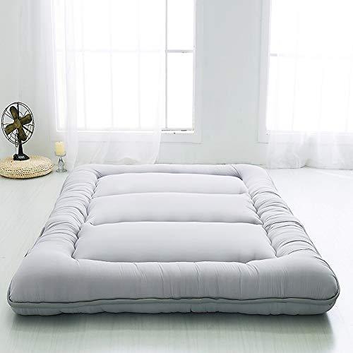 ASDFGH Traditionnel Japonais Quilting Les Matelas futons, Meulage de Laine Matelas de Tatami Folding Topper Matelas Ultra Doux Épaissir Surmatelas-Gris Queen