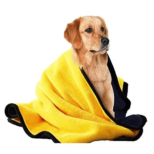 QWCZY Toalla de baño para mascotas, toalla para perro, manta de perro, toalla de baño para mascotas, toalla de secado de microfibra súper absorbente para perros y gatos, L