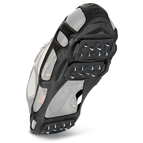 STABILicers Walk Traction Cleat for Walking on Snow and Ice, Black, Large (1 Pair)