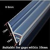 120inch (3meters) Glass Shower Door Seal Strip, Frameless Weatherproof Shower Door Seal Strip...