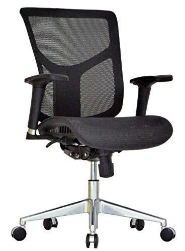 GM Seating Ergonomic Mesh Office Chair Dreem II Mesh Series, Black Mesh, Chrome Base (No Headrest)