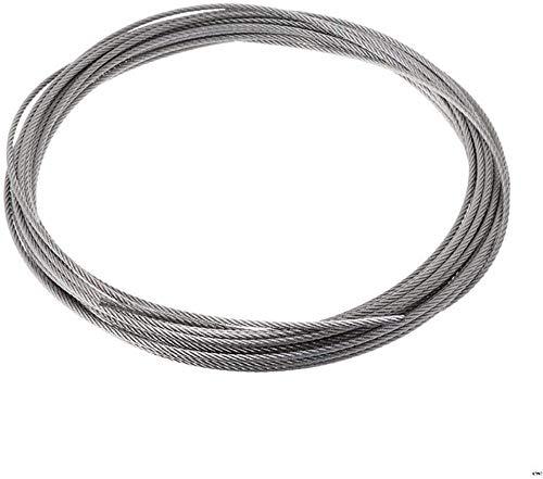 YAYY 2 uds 10m 304 Cuerda de Alambre de Acero Inoxidable Cable de elevación de Pesca Suave 7 * 7 tendedero 0,5mm / 0,8mm / 1mm / 1,2mm / 1,5mm / 2mm / 2,5mm / 3mm Cuerda de Alambre-1,5 mm Upgrade