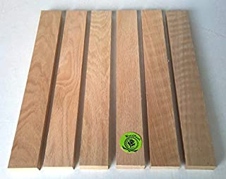 "3/4"" x 2"" x 16"" Solid Red Oak Hardwood Lumber Made by Wood-Hawk - Pack of 6"