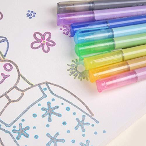 8 Stück/Set Markerstift Candy Farbe Doppelstrich Umriss Kunst Zeichnen Stifte bunt fluoreszierend Markierstift DIY Grußkarte Scrapbook Tagebuch Schreiben Schreibwaren