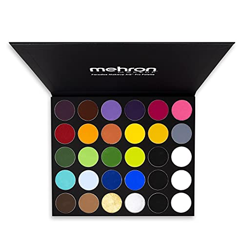 Mehron Makeup Paradise AQ Magnetic & Refillable 30 Color Pro Paint Palette - Face, Body, SFX Makeup Palette, Special Effects, Face Painting Palette for Art, Theater, Halloween, Parties and Cosplay