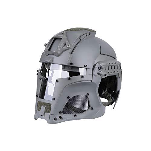 BUG-LPH Radfahren im Freien Taktische Sport Helm Vollmaske, mittelalterliche Iron Knight Brille Paintball Fechten Schutz