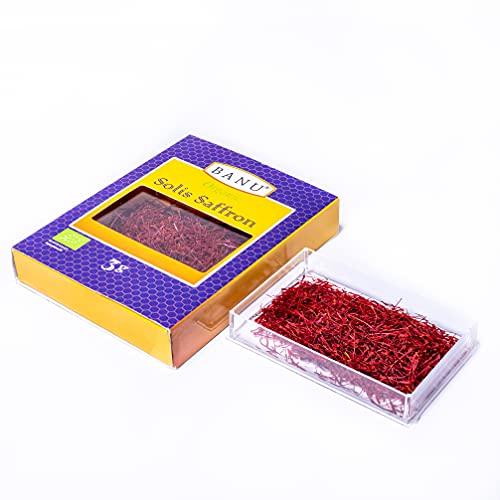 Zafferano Biologico Pistilli - Filamenti di Zafferano Rosso Naturale - Solis Grado A puro e Zafferano per Cucinare (1)