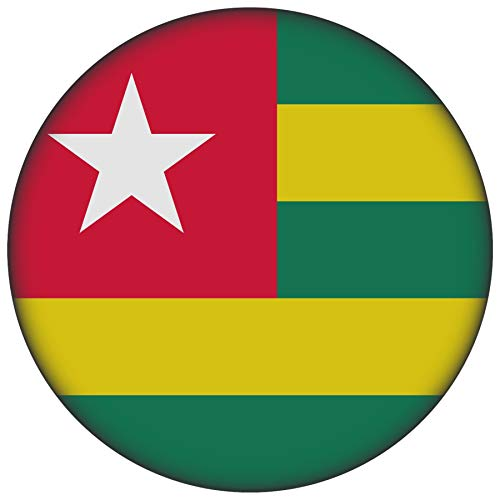 FanShirts4u Button/Badge/Pin - I Love TOGO Fahne Flagge (TOGO/Flagge)