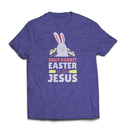 lepni.me Camisetas Hombre Conejo Tonto Lindo, la Pascua es para Jesús
