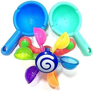 WPSTGB Bath Toys, Baby Bath Toys, Children's Bathroom Bathtub Bath Toys, Scoop Water Windmill Waterwheel Children's Fun Po...