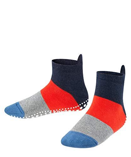 FALKE Unisex Kinder Socken, Colour Block Catspads K CP-12022, Blau (Navy Blue Melange 6490), 35-38