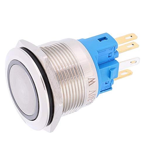 con interruptor de botón de botón de enchufe de cable Interruptor de botón de anillo de bloqueo automático para fábrica(white, Pisa Leaning Tower Type)