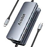 Acodot 9-in-1 USB C Hub Multiport Adapter, 5 USB Anschlüsse, mit 4K HDMI, 100W PD-Stromversorgung,...