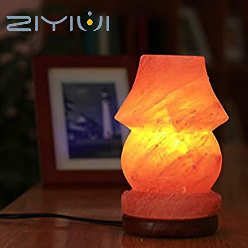 Lámpara de sal de roca de cristal 100% original del Himalaya 2-3 kg lámpara de mesa lámpara de sal, adecuada para luz nocturna de varias ocasiones