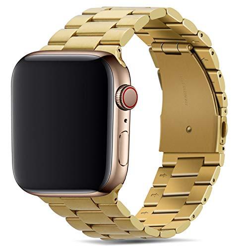 Tasikar per Cinturino Apple Watch 42mm 44mm Alta qualità Acciaio Inossidabile Cinturino di Ricambio Compatibile con Apple Watch SE Serie 6 Serie 5 Serie 4 Serie 3 Serie 2 Serie 1 - Oro