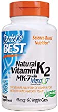 Doctor's Best Natural Vitamin K2 MK-7 with MenaQ7 White No Flavor, 60 Count