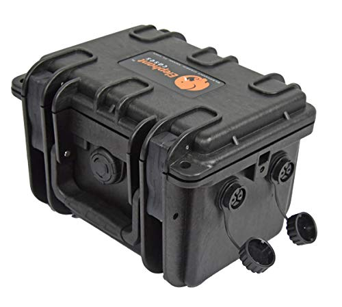 Elephant B100D2 Kayak Battery Box Waterproof Battery Enclosure for Powering GPS, Fish Finders, Led Lights, Aerator Pump (2 pin Dual)